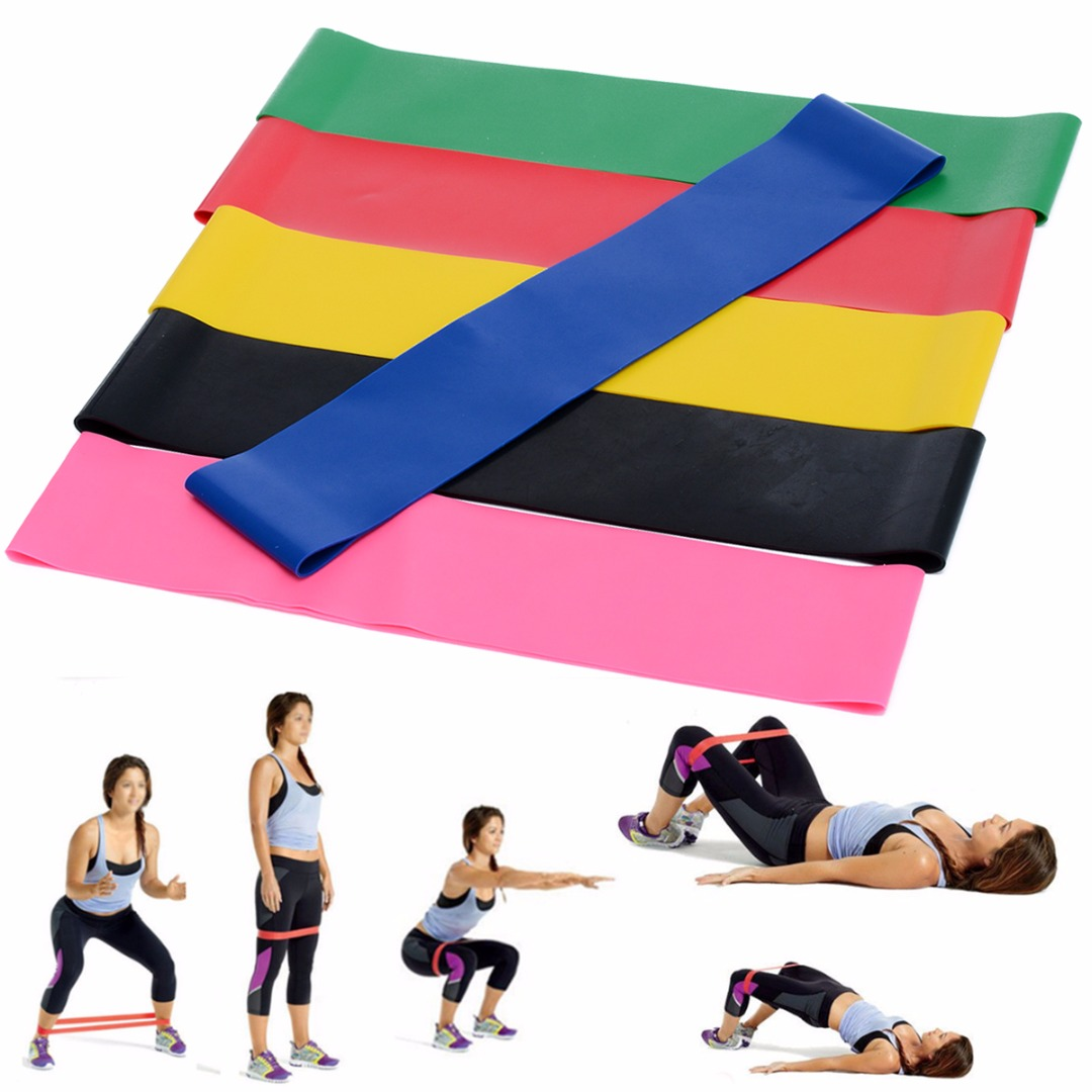 6Pcs/lot Yoga Elastic Loop Band Set Gym Strength Fitness Natural Latex Resistance Band Strap Bands Exercise Dance Training