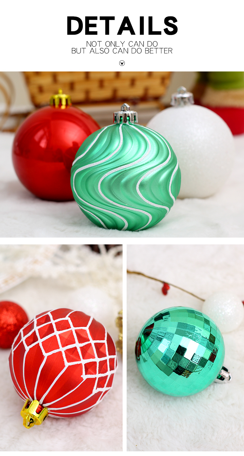 04 inhoo 50pcs Christmas ball Decorations for home Christmas Tree Decoration Ball Ornaments Pendant Accessories Xmas Gifts 2019 new