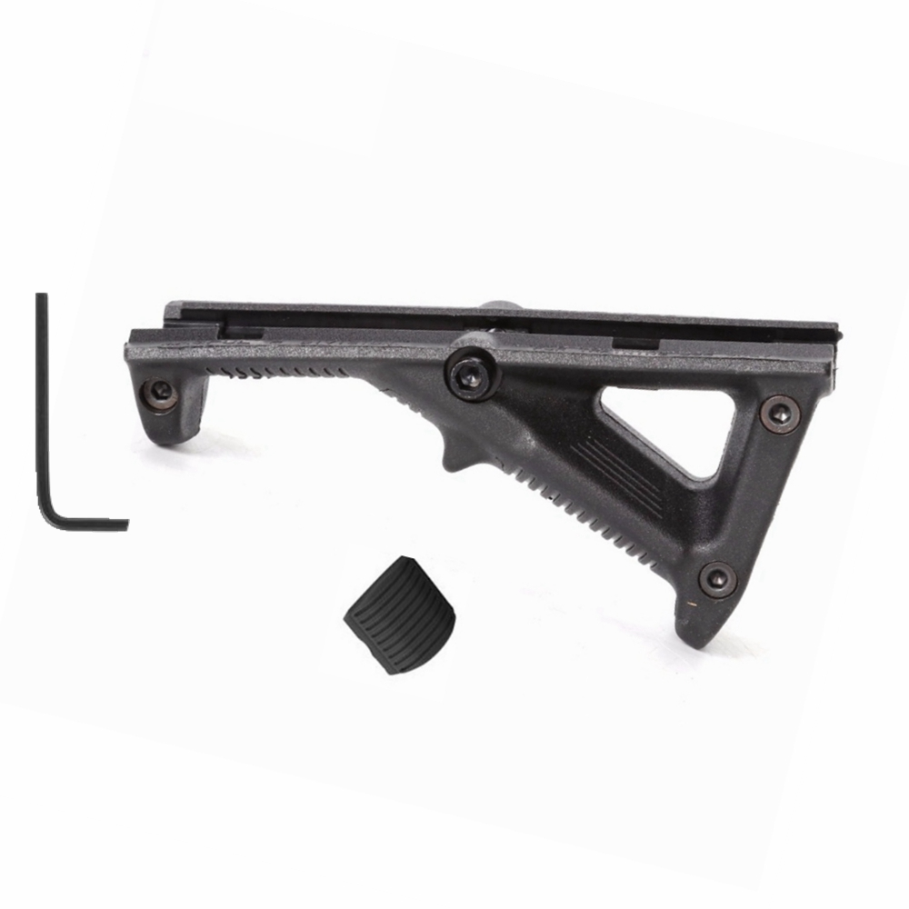 1x Black Tactical Angled Triangular Grip Front Handguard Fore Grip For Quad Rail