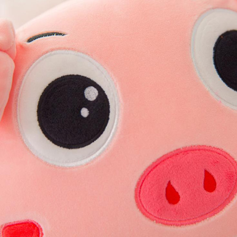 Pink Pig Expression Pig Pillow Plush Toy Soft Down Cotton Cute Pig Pillow Gift Cute Doll Xmas Toys for Children