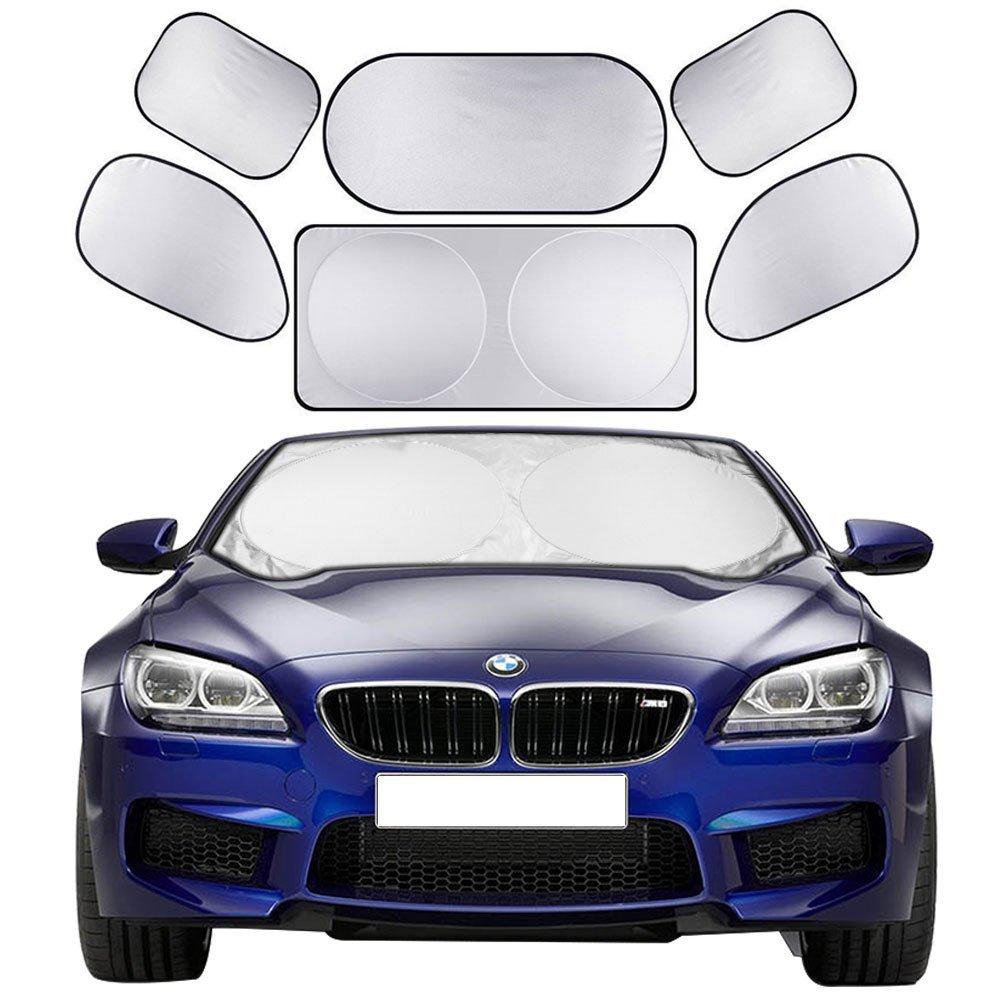 2x voiture fenêtre pare-soleil anti-statique soleil stores bouclier couverture