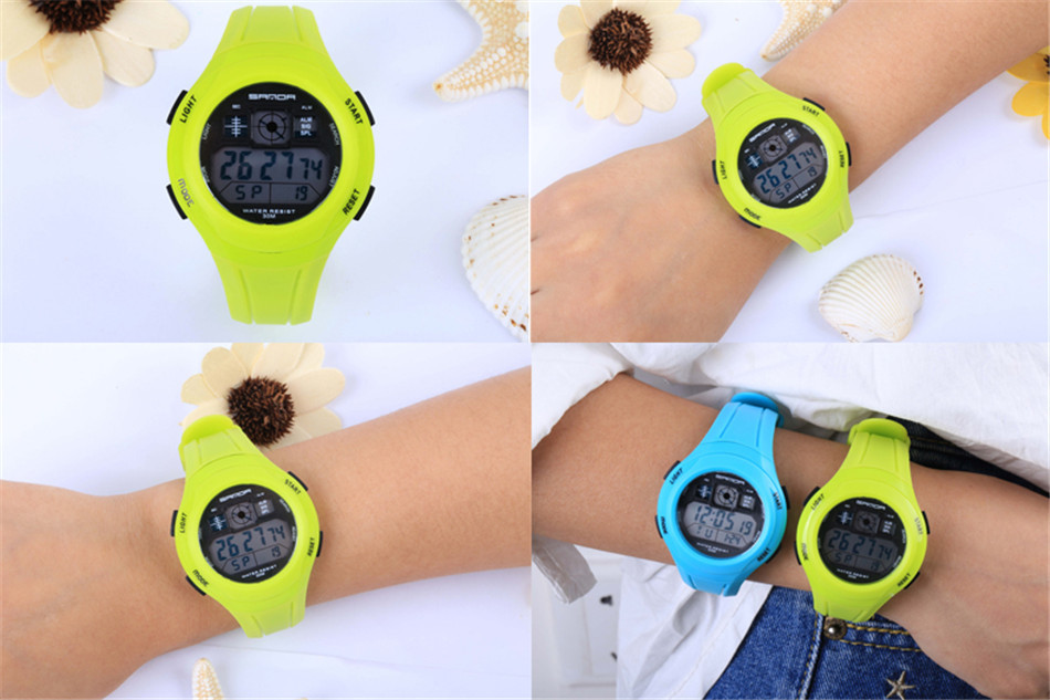 SANDA Fashion Women Sports Watches Waterproof Ladies Jelly LED Digital Watch Swim Hand Clock Montre Femme relogio feminino 2017 S915