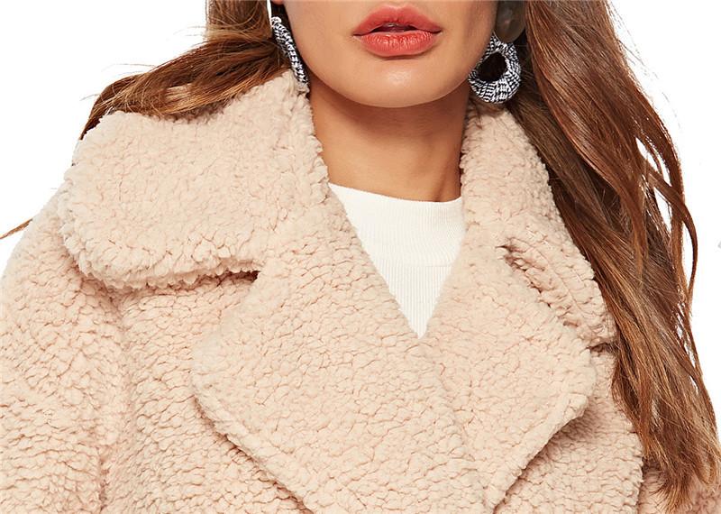 faux lambswool women long section coat outerwear-10