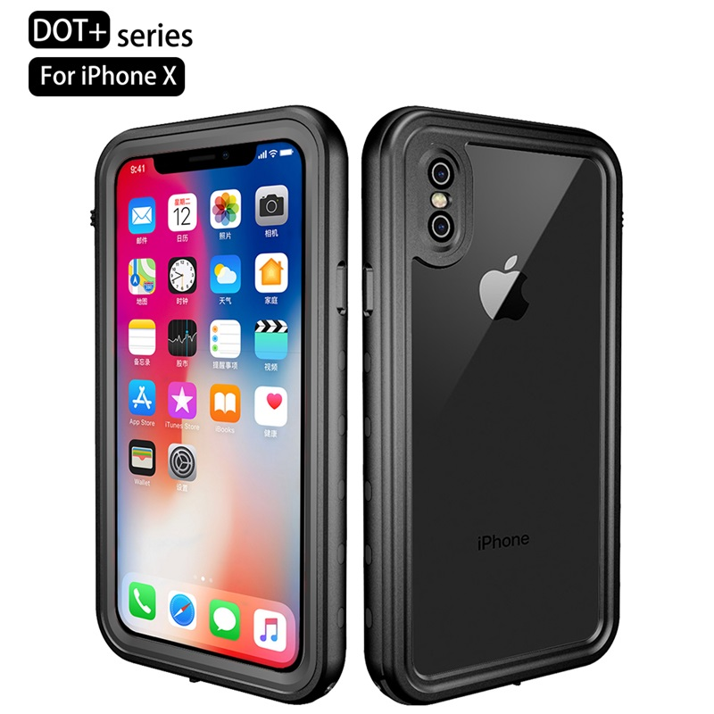 Luxury Waterproof Case For iPhone XR XS Max Clear Soft TPU+PC 360 Full Armor Case For iPhone X S X 10 XSmax Case Fundas Coques (2)