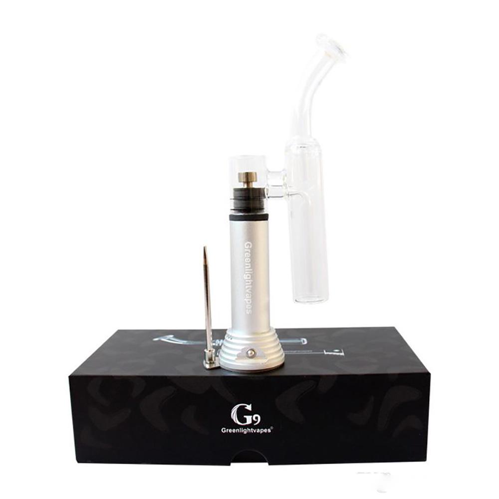 Greenlight G9 Wax Pen Mini Henail With Glass Bongs titanium ceramic quartz XL dish 1500mah rechargeable battery