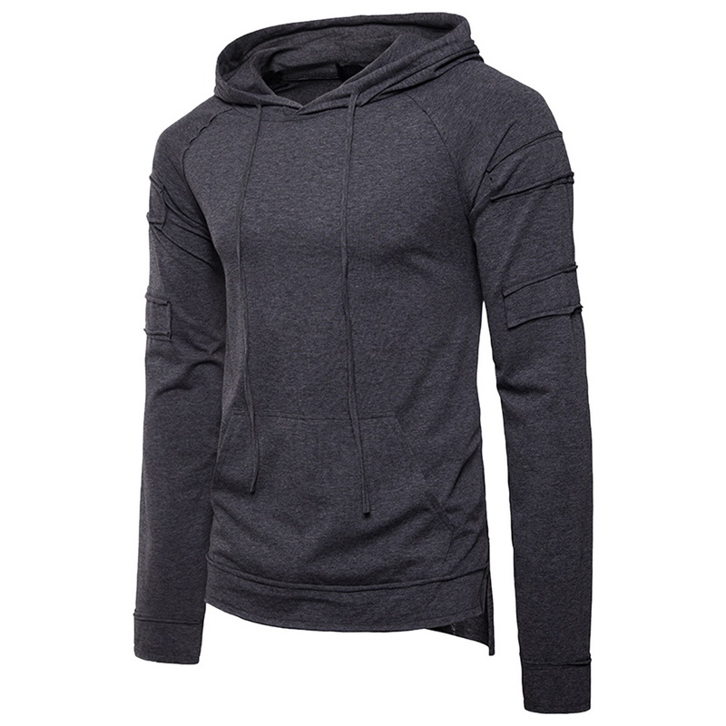 wholesale Solid White Slim Street Hip Hop Men Men Hoodies 2018 Summer Autumn Men Hoodies Comfortable Brand Hooded Mens Clothing