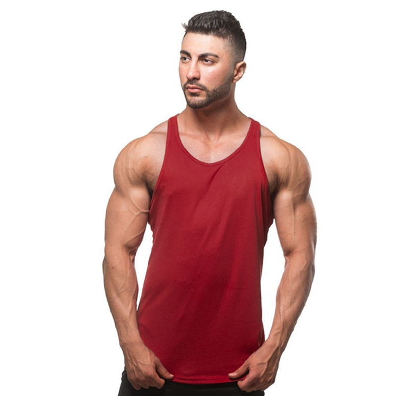 hot mens t shirts Summer Cotton Slim Fit Men Tank Tops Clothing Bodybuilding Undershirt Golds Fitness tops tees