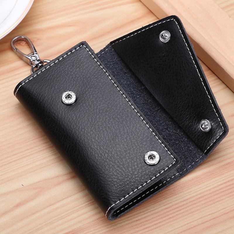Unisex Key Holder Organizer Pouch wallets Genuine Leather Keychain Cow Split Car Key Bag Wallet Housekeeper Key Case Mini purse GGA1228