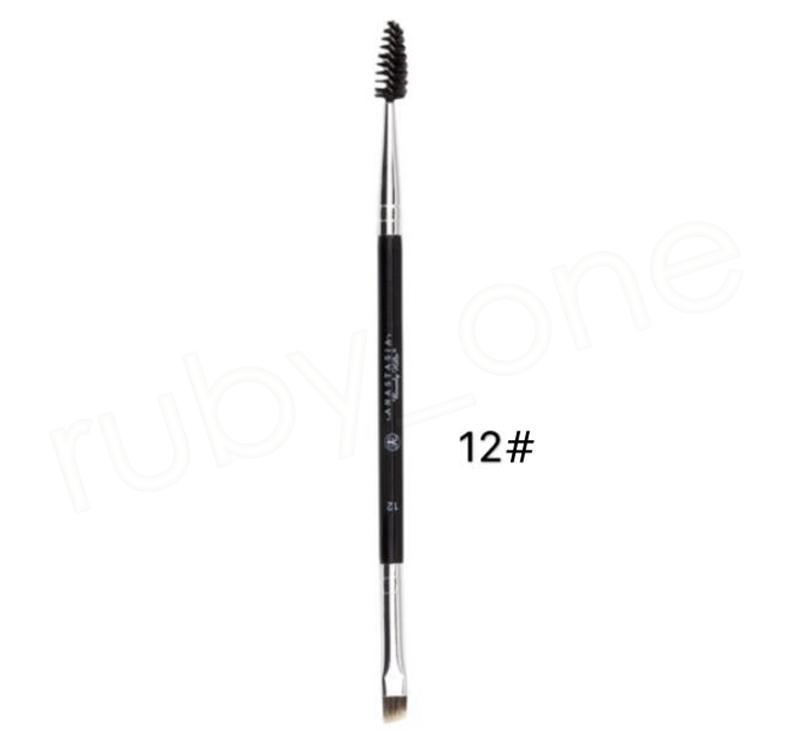 Pinceau à sourcils cosmétique Eye Brow outil de maquillage Ombre à paupières eye-liner pinceaux grand synthétique Duo 12 # pinceau à sourcils mélange GGA1055