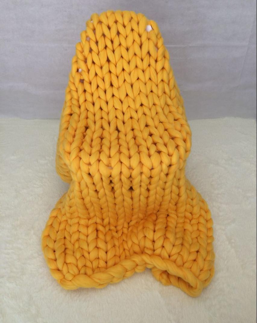 yellow chunky blanket