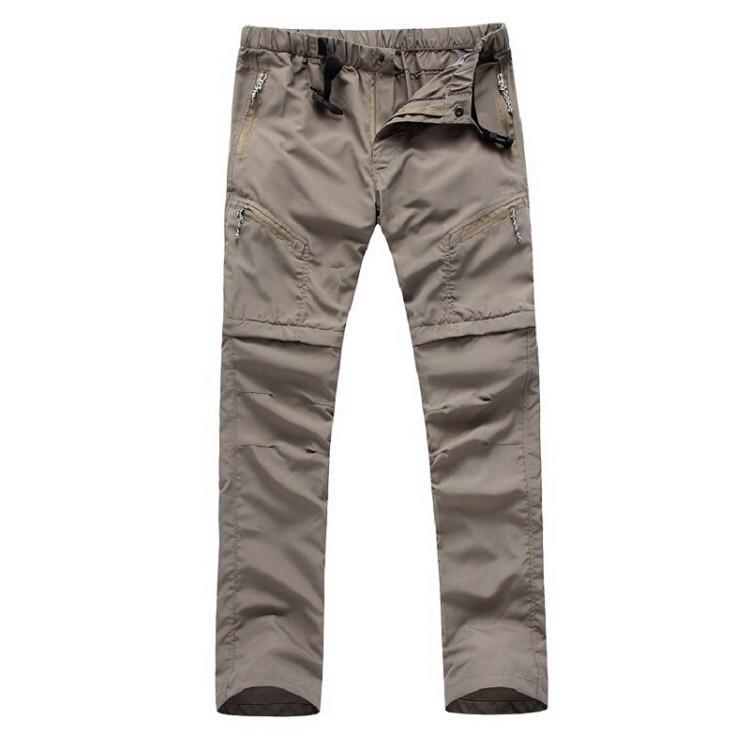 baisheng de Secado r/ápido Ligeros Pantalones el/ásticos para Senderismo con Cremallera para Exteriores