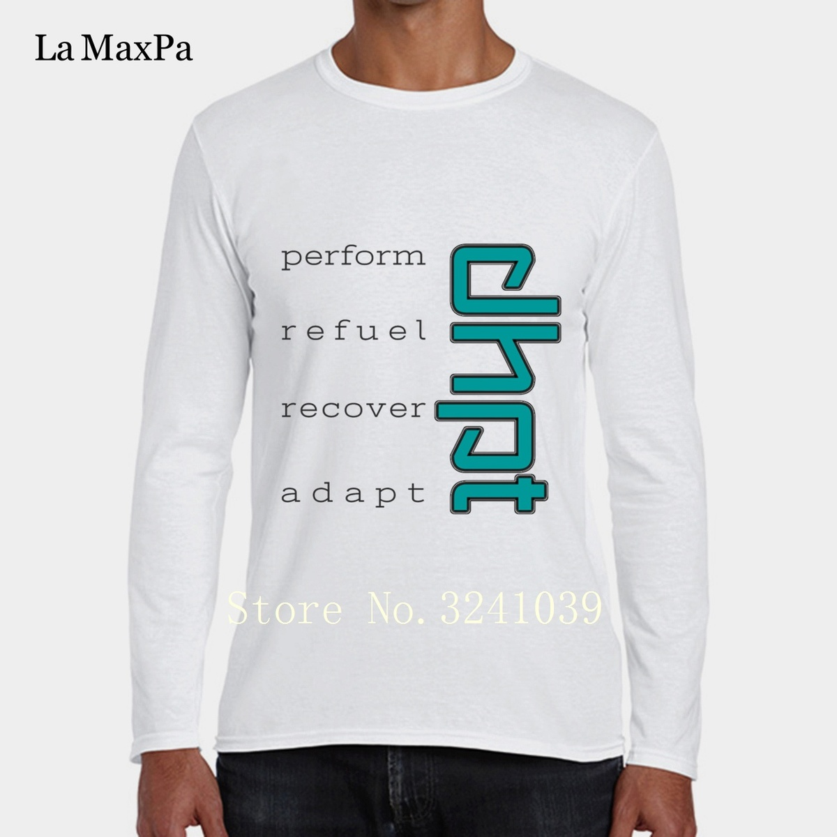 Blue Dhpt Perform Refuel Recover Adapt Fun Men Tee Shirt Outfit winter Style T-Shirt Man Clothes Round Collar Tshirt Large