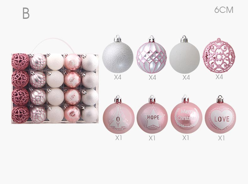 05inhoo 20pcs Christmas Tree Ornament Balls plastic 6cm Xmas Baubles Accessories Christmas Decorations For Home Party Gift