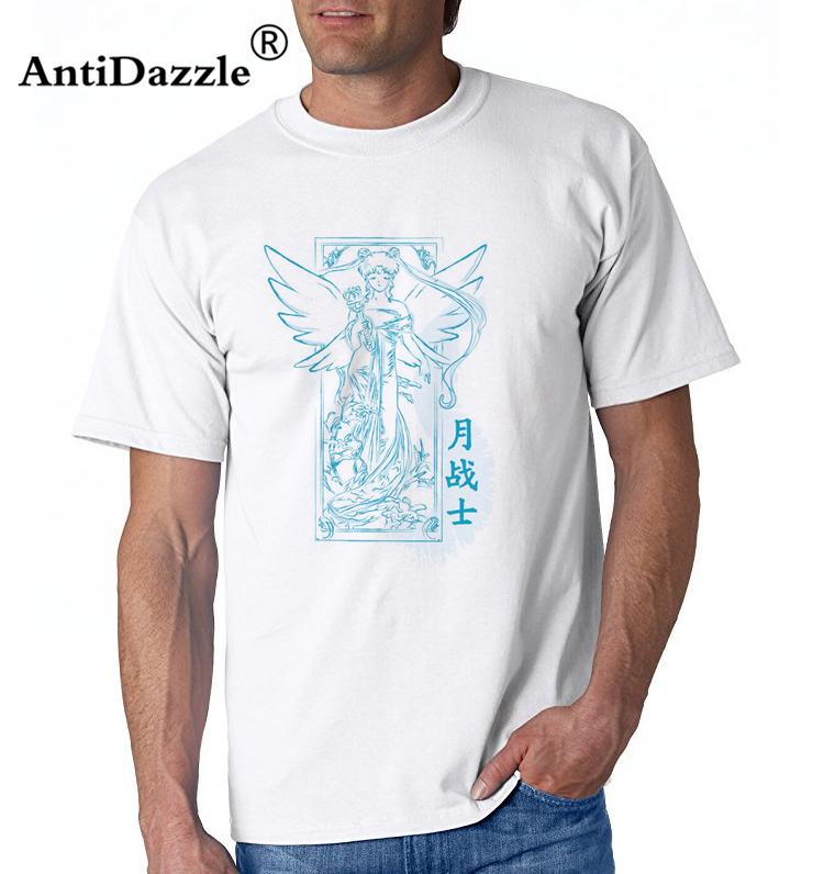 Maglietta degli uomini di Antidazzle Novelty di alta qualità manica corta Sailor Asia Art stile bianco maschio t-shirt Tees Tops