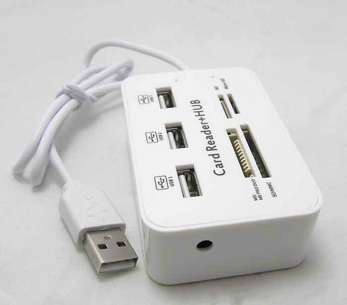 USB 2.0 HUB M2 Card Multi-Function USB Combo Expander USB HUB Card Reader Hub Read 4 Card Simultaneously Support SD//MMC Card MS Card TF Card
