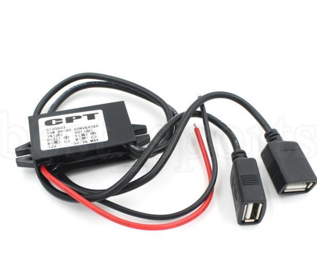 Cargador de coche Convertidor macho CPT Car Power Reductor Regulador No aislado Buck Módulo Convertidor de potencia CC 12V a 5V 3A 15W USB KKA5958