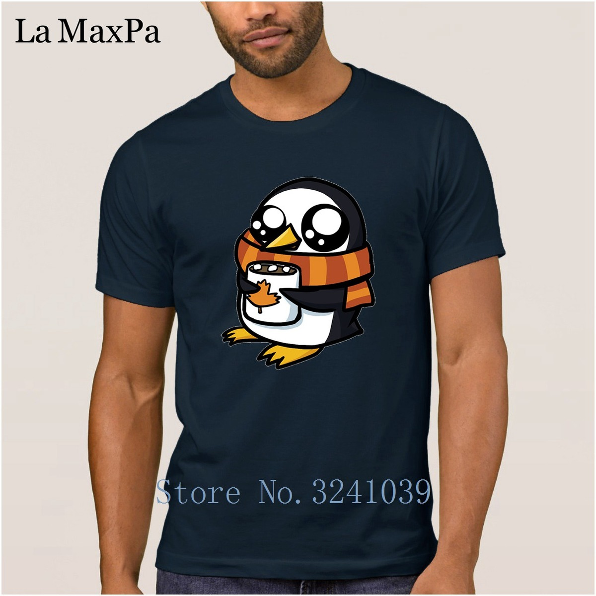 Costume New T Shirt For Men Cotton Spring Autumn Men Tshirt Autumn Penguin T-Shirt Cute Tee Shirt Homme O-Neck Interesting