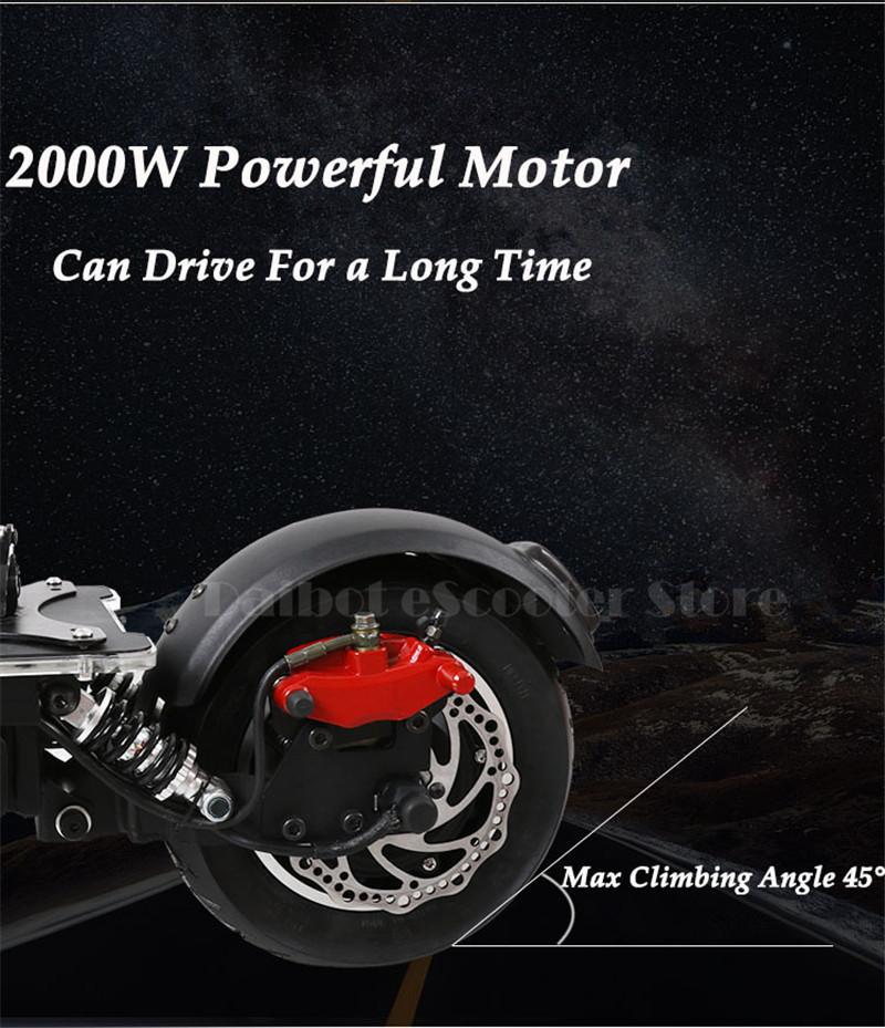 UBGO 1005 60V52V 2000W Double Drive Folding Electric Scooter (15)