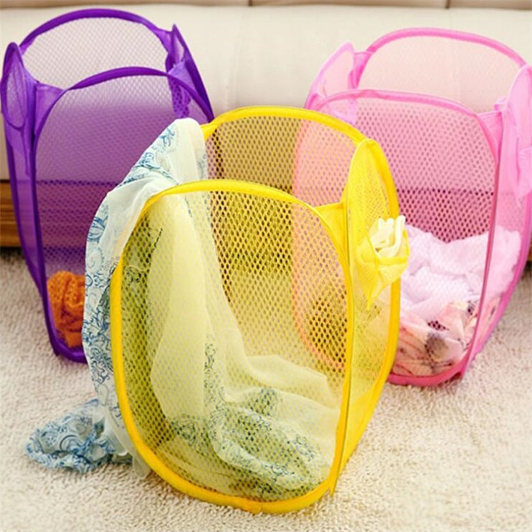 Neue Stil Große Größe Mode Farbe Net Schmutzige Kleidung Körbe Falten Schmutzige Kleidung Sammeln Korb Wäschekorb Lagerung BasketsT7I373
