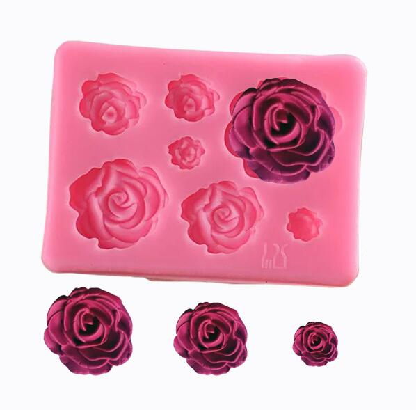 3D DIY Rose Bird Lace Cake Border Silicone Mold Fondant Mould Decorating Tool MA