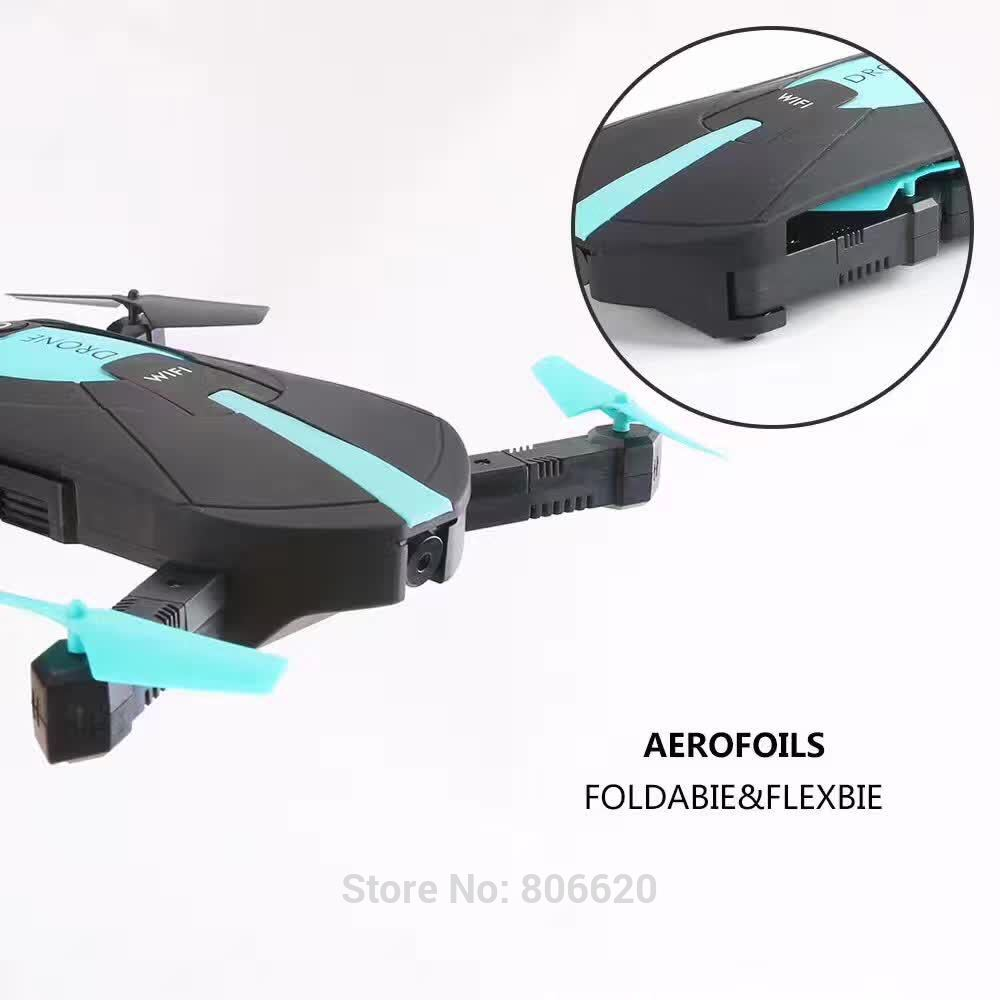 Low Cost HD Wifi Real-time Aerial Photography Foldable Toy Drone with No Head Mode & Mobile Phone & Tablet App Gravity Control_3