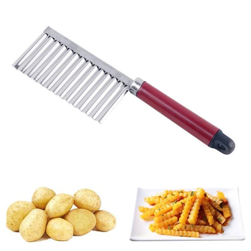 affettatrice per patate in modo casuale Taglia libera casuale Affettatrice francese in acciaio inox