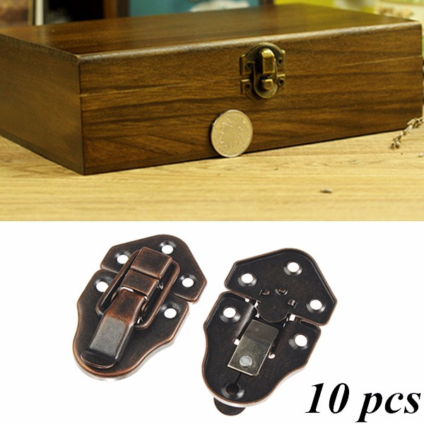 3.3 x 2.7cm 10 Sets Bronze Tone Box Suitcase Toggle Latch Buckles Hardware Lock