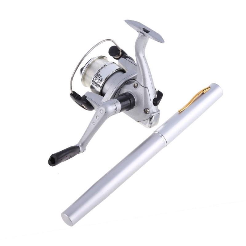 5.1: 1 lega di alluminio tasca penna canna da pesca pole + pesca spinning reel + pesca linea carp fishing tackle accessories