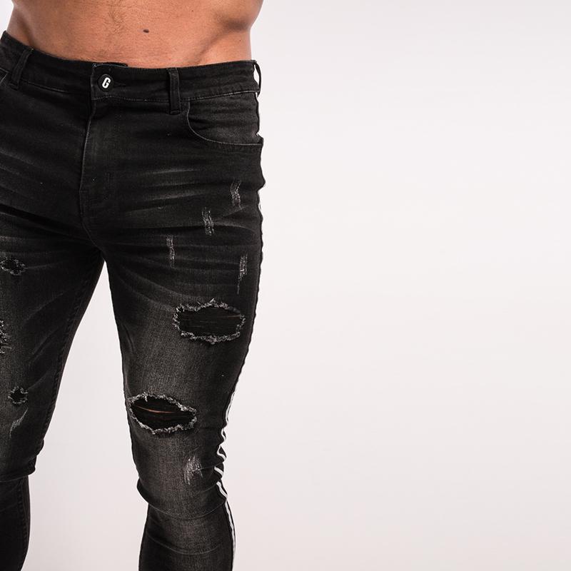 gingtto-mens-skinny-jeans-black-stripe-super-spray-on-zm23-3