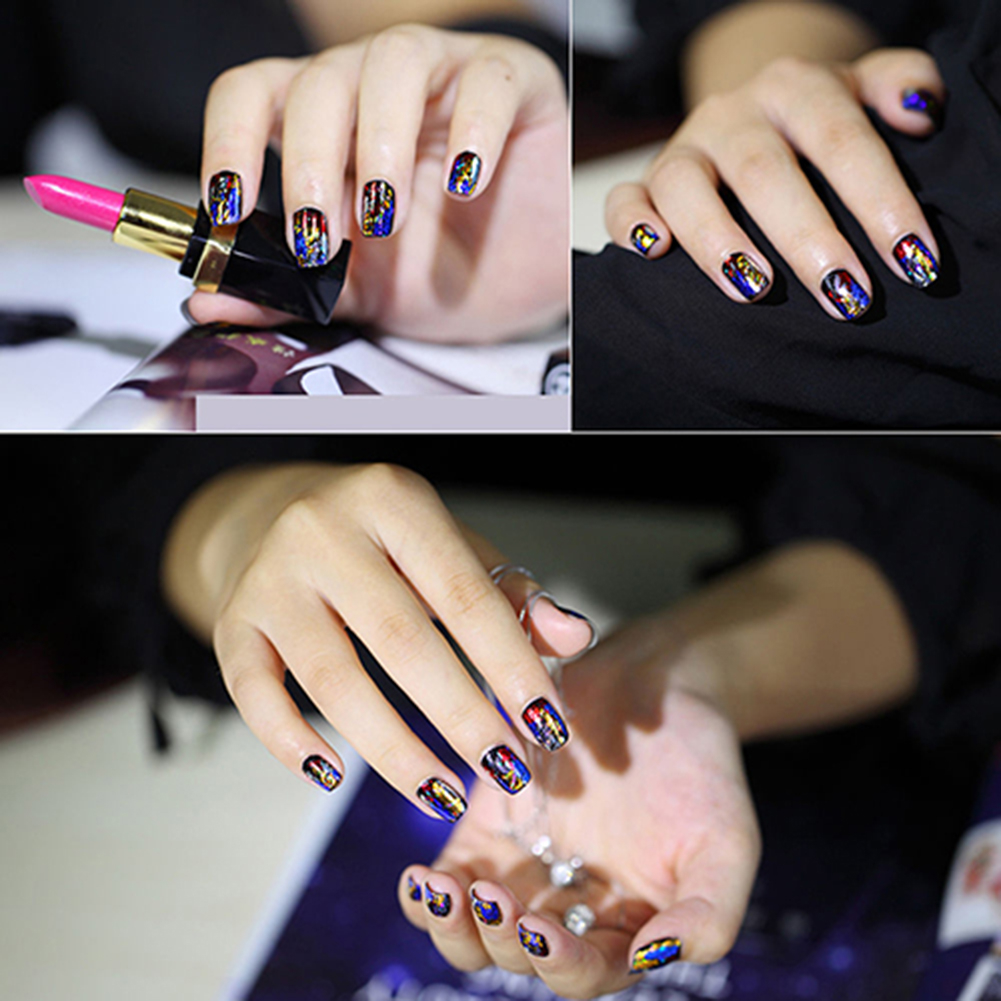 20Pcs Finger DIY Nail Art Sticker Decal Foils Water Transfer Stickers Tips Decor (2)