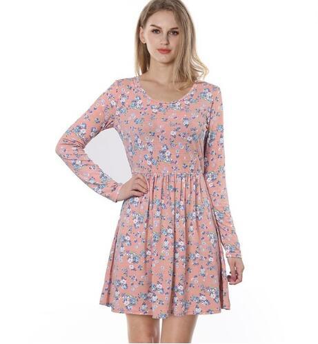 Nouveau Haut Taille Plus robe de femmes dentelle manches Tunique Col V A-Line Top Long vente