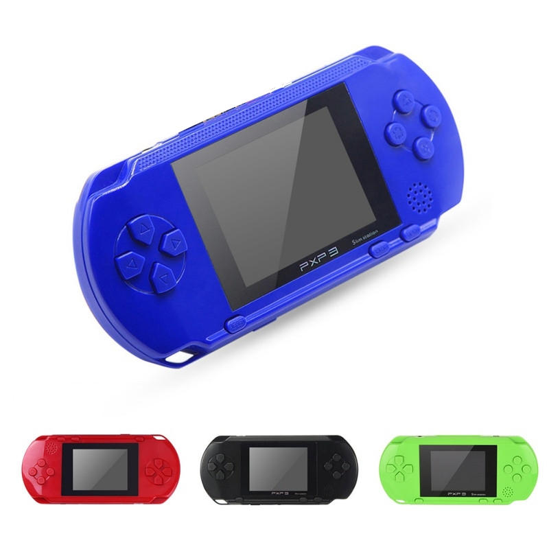 Sıcak PXP3 Klasik Oyunları Ince Istasyonu El Oyun Konsolu 16 Bit Taşınabilir Video Oyun Oyuncu 5 Renk Retro Cep Oyun Oyuncu Ücretsiz Nakliye