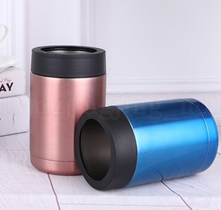 500 ML Puede Enfriador Taza de Acero Inoxidable Sostenedor de Bebidas Aislamiento Cerveza botella Keeper Taza Cerveza Taza de la Bebida KKA6056