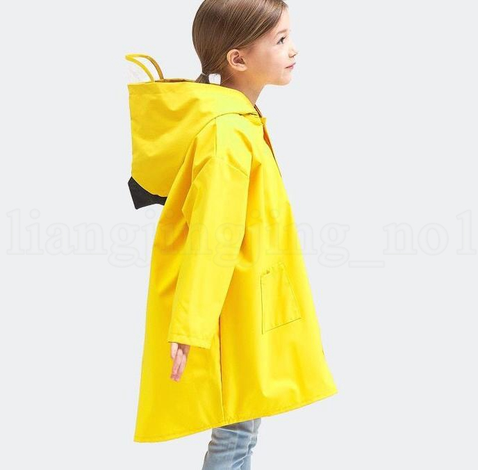 재미 있은 귀여운 공룡 비옷 어린이 유치원 학생 아기 어린이 유아 야외 방수 비옷 판쵸 레인 우비 KKA6173