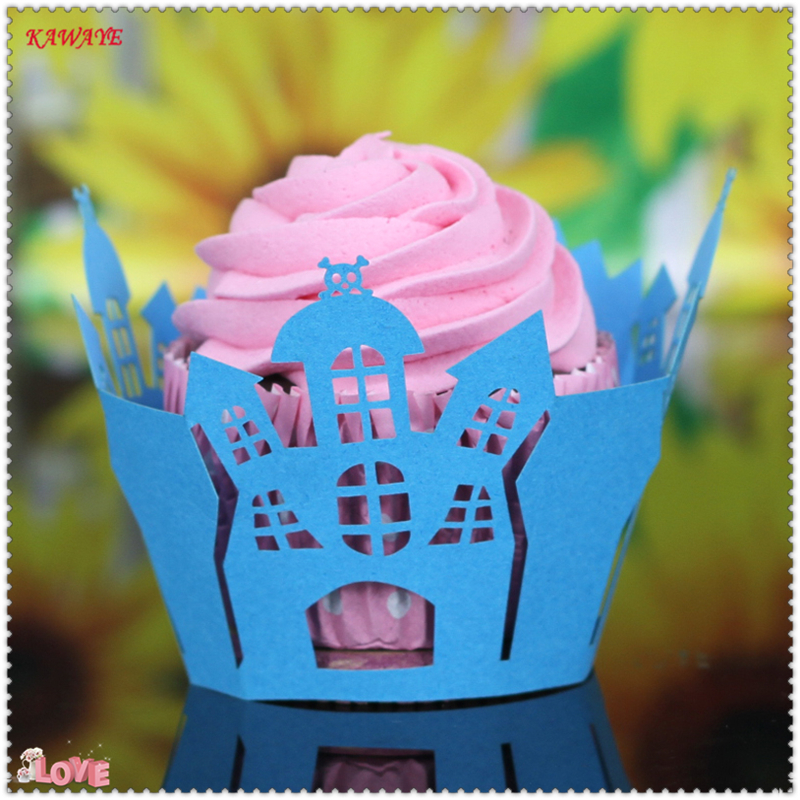 / Hot Selling Mix Cut Christmas, Birthday, Wedding Cake Decorating Tools Paper Muffin Cupcake Baking Cups 7ZC21