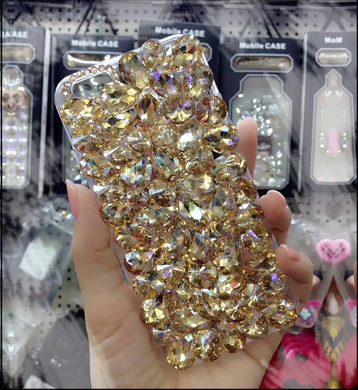 Luxury-Shiny-Plain-Diamond-Fitted-Phone-Cover-Case-For-iphone-X-8-7-6-6S-Plus