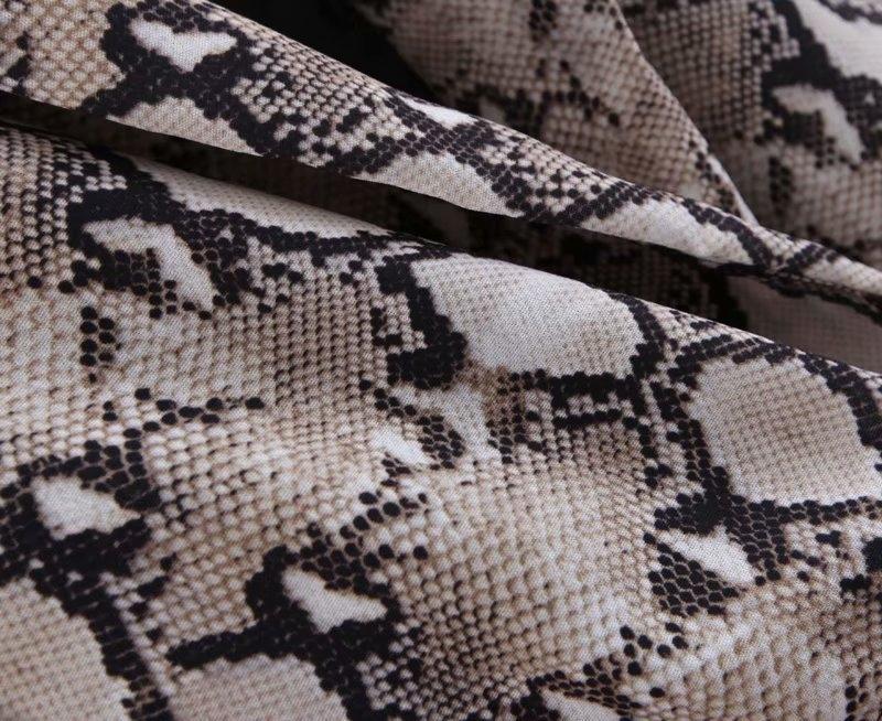 Womens Blazers Long Sleeve Snake Skin Print Long Style Hidden Breasted Ladies Blazers Women Streetwear Outwear S M L (11)