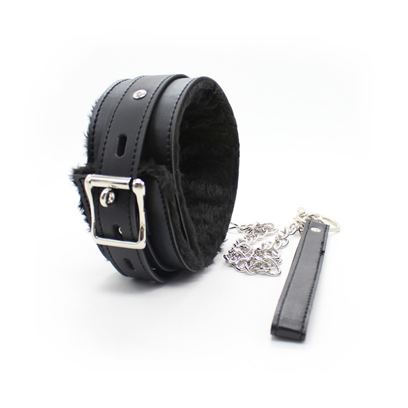 PU Leather Neck Collars with Leash Sexy Neck Cuffs BDSM S&M Harness Bondage Restraints Flirting Sex Toys for Women Adult Game