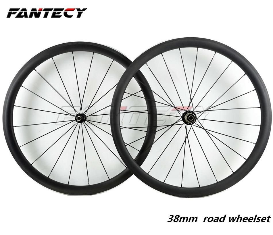 406 Wheel Clincher 20/'/' Carbon Road folding bike Rim 38mm Disc Brake 23mm Wide