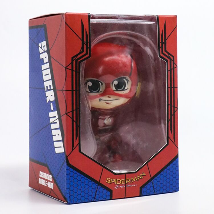 Toy Gift Model New Teen Gift Justice Alliance Superhero Flash The Flash Q version shakes the flasher doll box egg