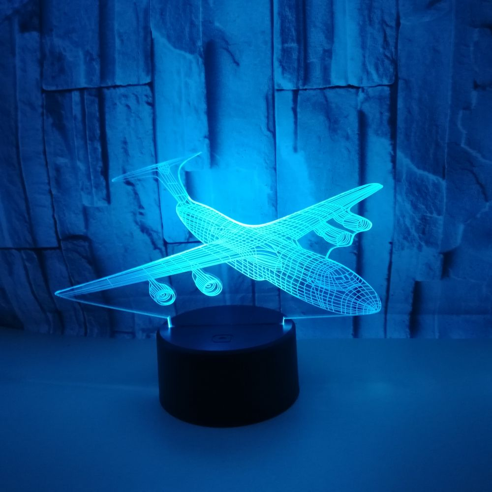 Change Nightlight 3D Led Aviation Aircraft Modelling Touch Button Usb Airplane Table Lamp Home Decor Lighting Wholesale Dropshipping