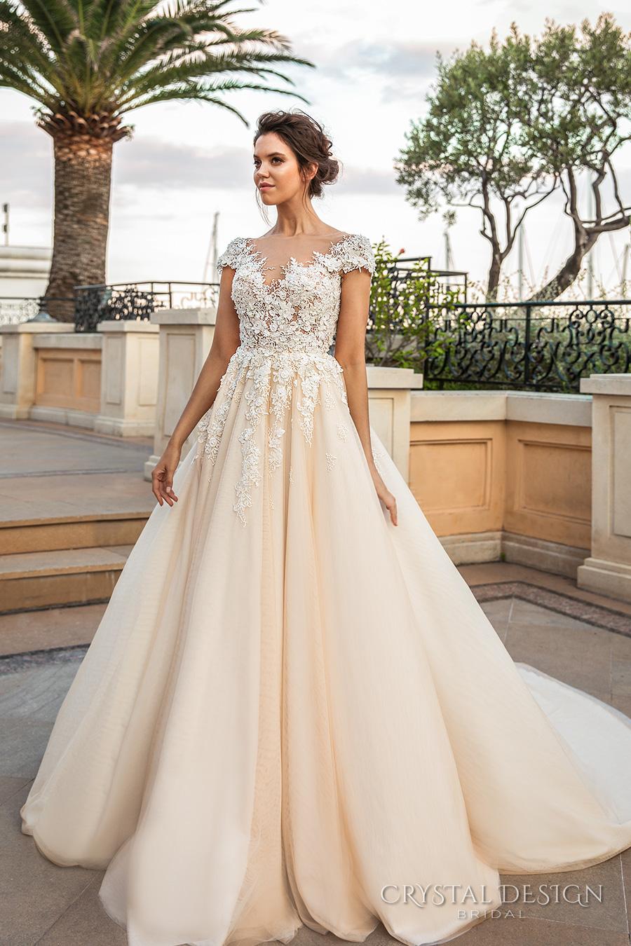 Großhandel Romantische Prinzessin Ivory Cream Brautkleider 2018 ...