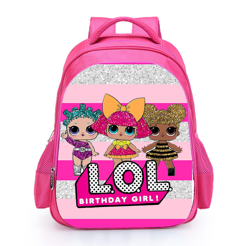 Kids Pink Backpack LOL School Bag for Girls Cute Custom Name Print Schoolbag personalized Book Knapsack mochila Birthday Gift (2)