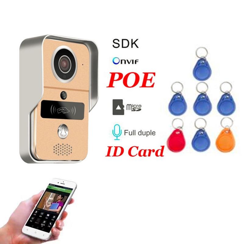 Новый дом Smart Wireless SD Card видеозапись видео домофон + RFID брелоки Wifi IP дверной звонок POE камеры для ONVIF подключить NVR
