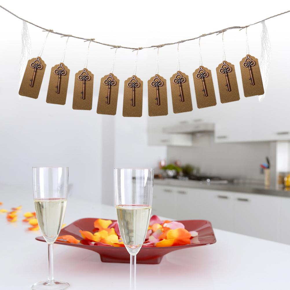 1.2M faveur de mariage porte-clés Bunting Bannières Vintage ouvre-bouteilles bière ouvre-bouteille guirlandes