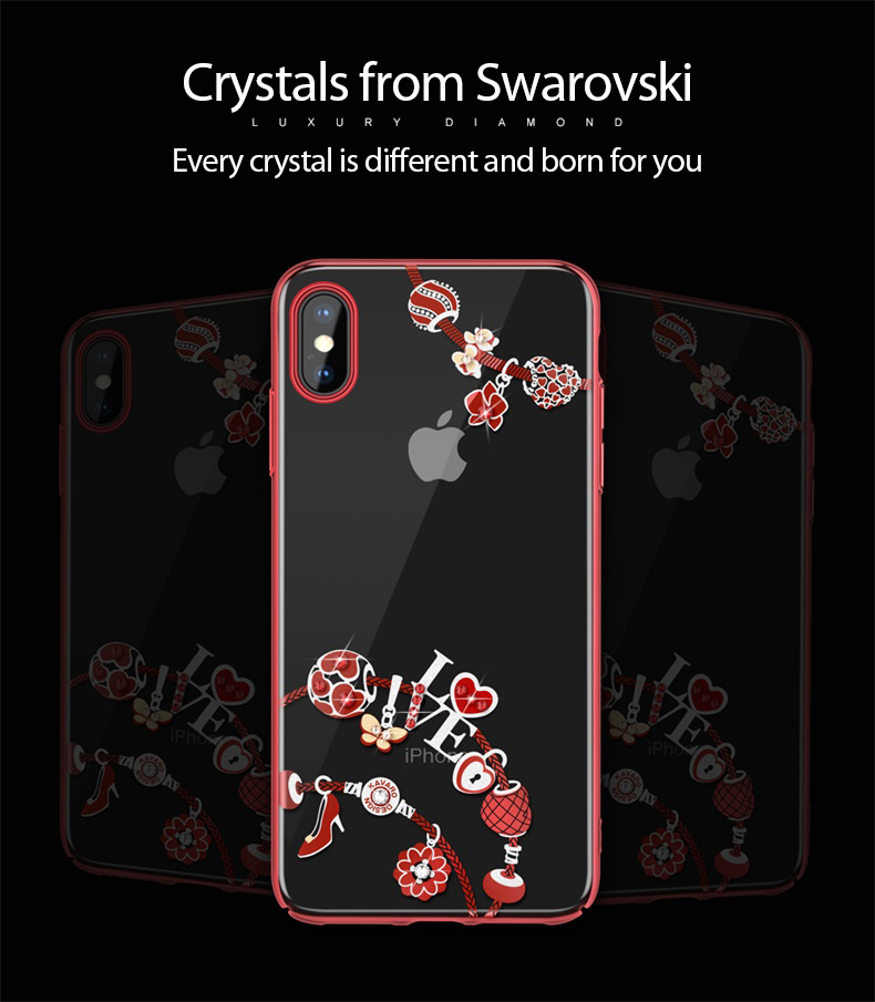 KINGXBAR Case for iPhone Xs Max Case Cute Patterned for iPhone Xs Cover Transparent for iPhoneXs Luxury Crystals from Swarovski (5)