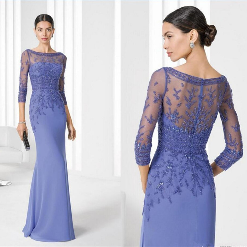 2016-Fashionable-Appliques-Beadings-Mother-Of-The-Bride-Dresses-Sheer-Neck-Chiffon-Sexy-Sheer-Back-Wedding (1)