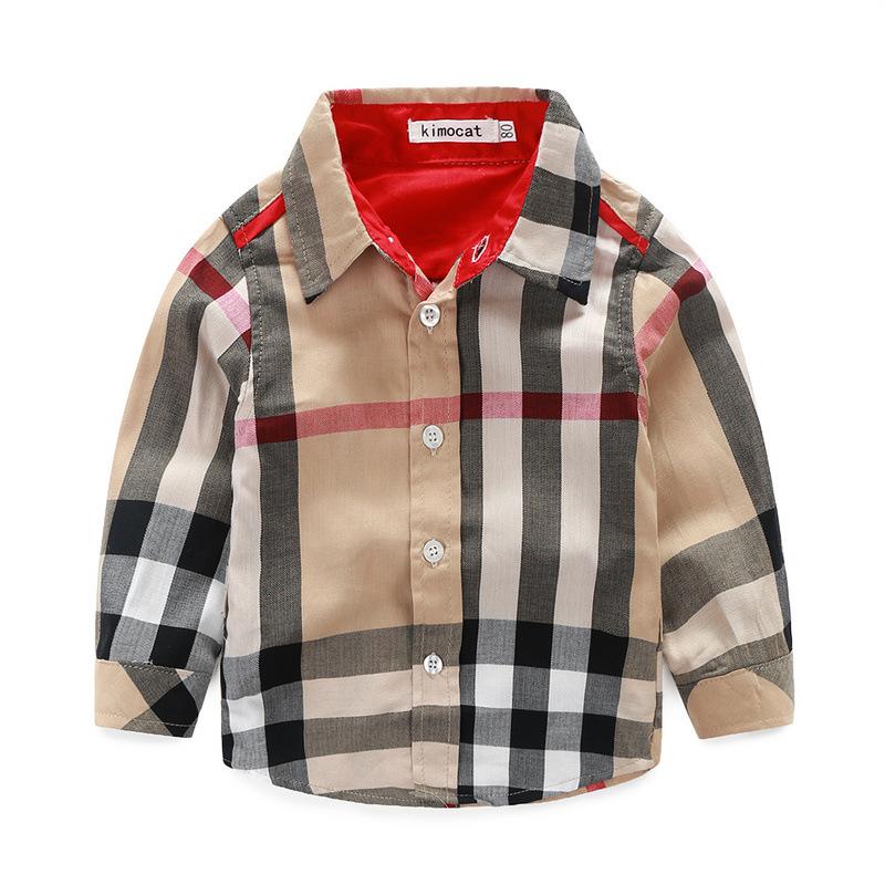 Baby Boys Gentleman suit Kids Plaid Shirt Tops+Denim Suspenders Pants Outfits Children Clothing Sets Autumn Boys Clothes