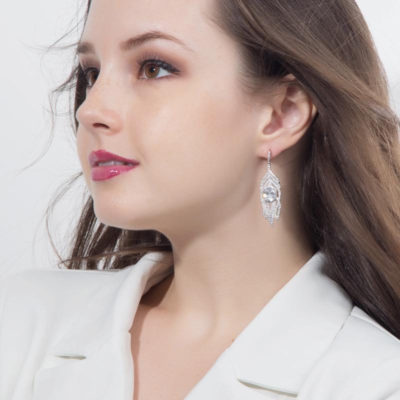 Yellow Crystal Earrings 14