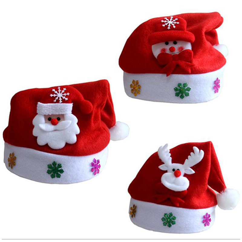 Christmas Hats Santa Cap Kids And Adult Size LEDLight UpLuminous Christmas Hat Decoration New Year Xmas Gifts Party Supplies (7)